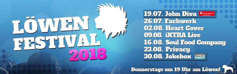 Von der Ferienwohnung in Remscheid direkt auf das Löwen Festival