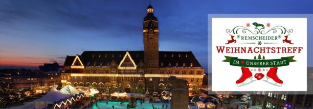 Von der Ferienwohnung in Remscheid direkt auf die Eisbahn auf dem Rathausplatz in Remscheid